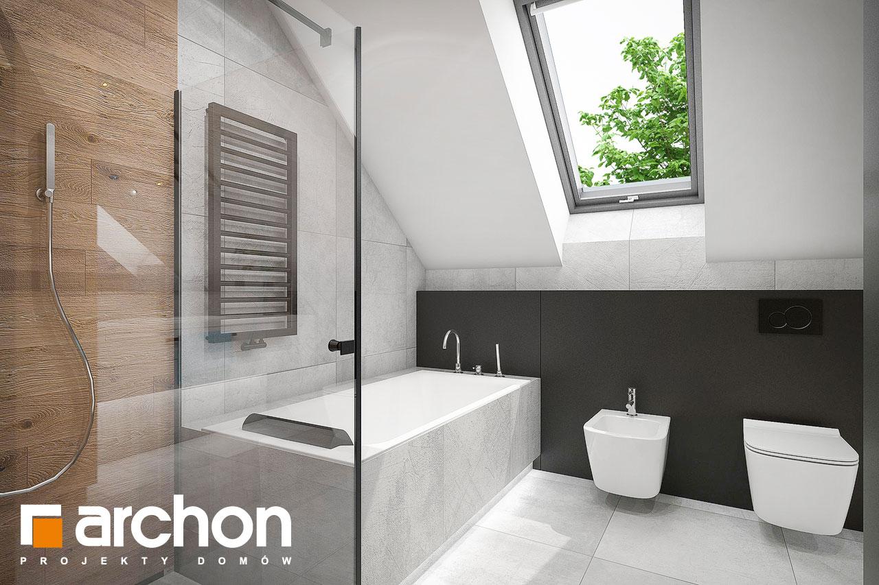 Проект будинку ARCHON+ Будинок в арлетах візуалізація ванни (візуалізація 3 від 2)