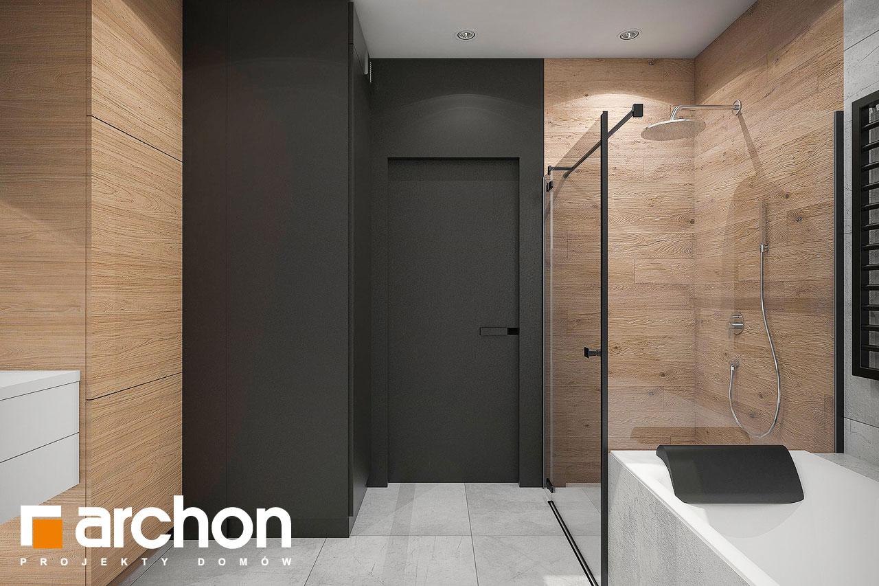 Проект будинку ARCHON+ Будинок в арлетах візуалізація ванни (візуалізація 3 від 3)