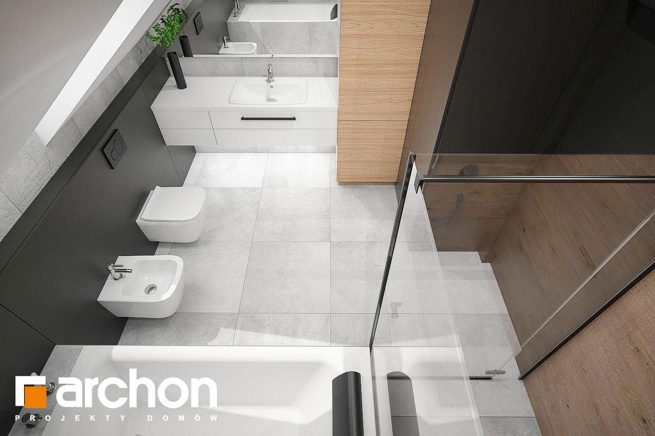 Проект будинку ARCHON+ Будинок в арлетах візуалізація ванни (візуалізація 3 від 4)