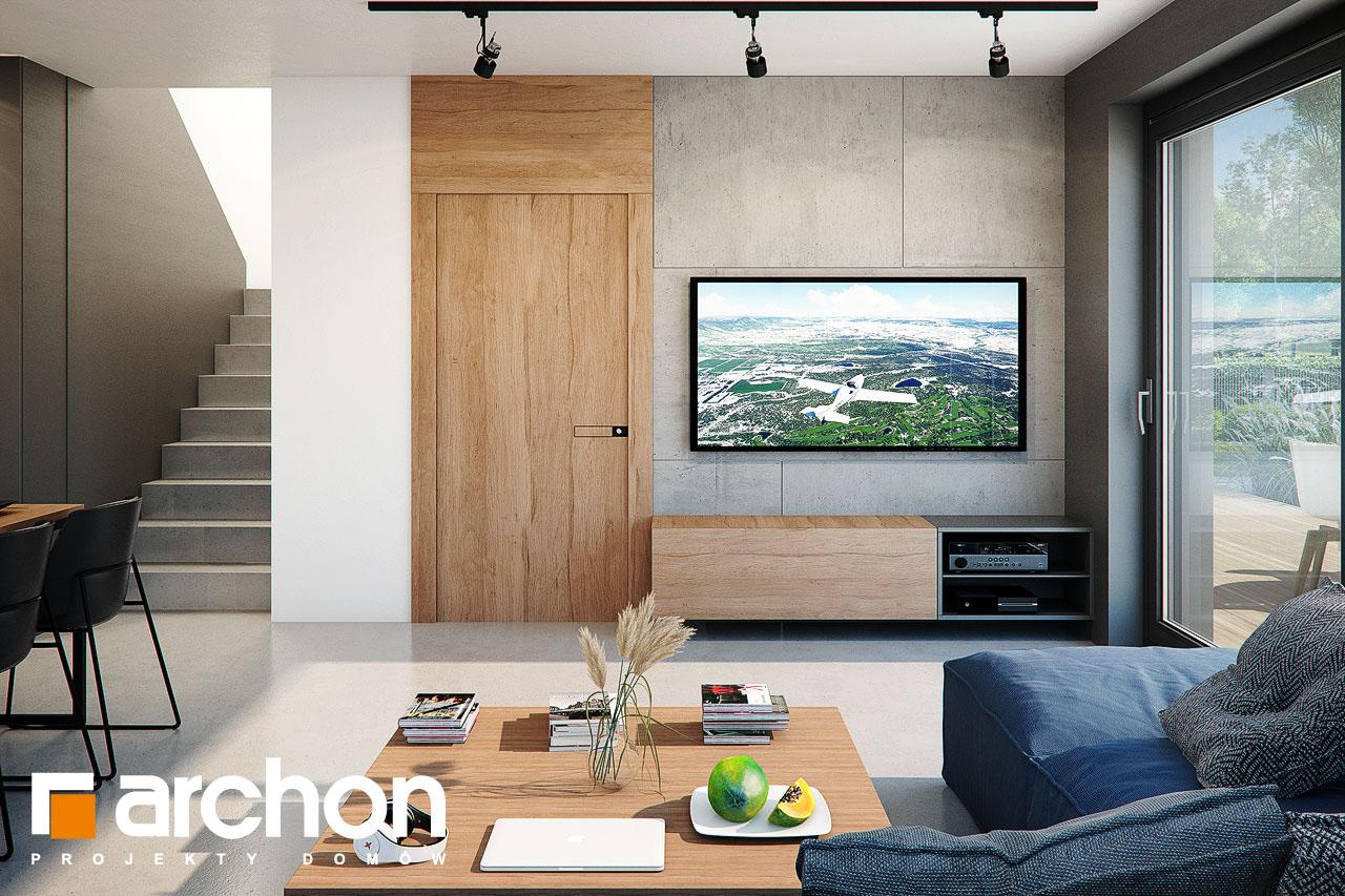 Проект будинку ARCHON+ Будинок в арлетах денна зона (візуалізація 1 від 2)