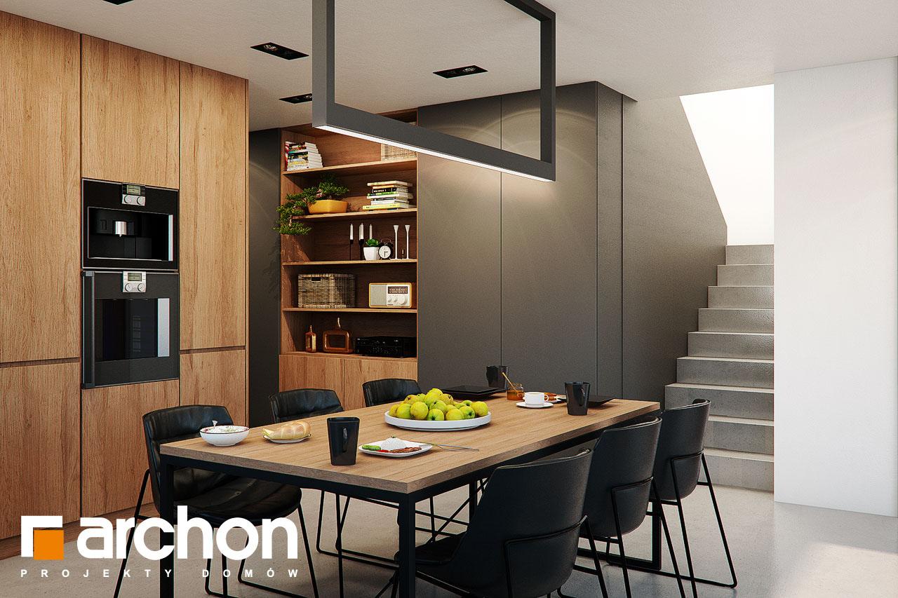 Проект будинку ARCHON+ Будинок в арлетах денна зона (візуалізація 1 від 3)