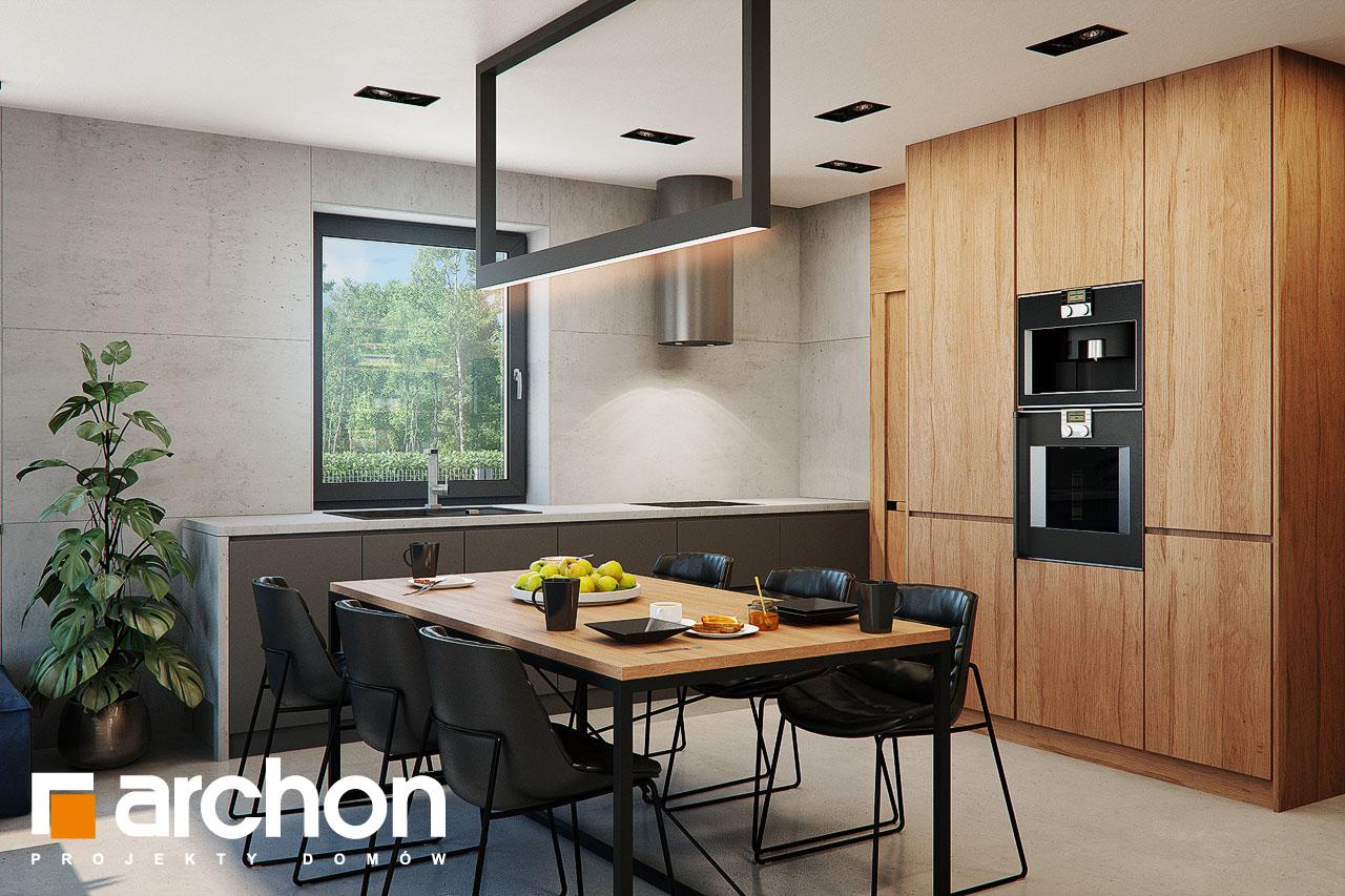 Проект будинку ARCHON+ Будинок в арлетах денна зона (візуалізація 1 від 5)