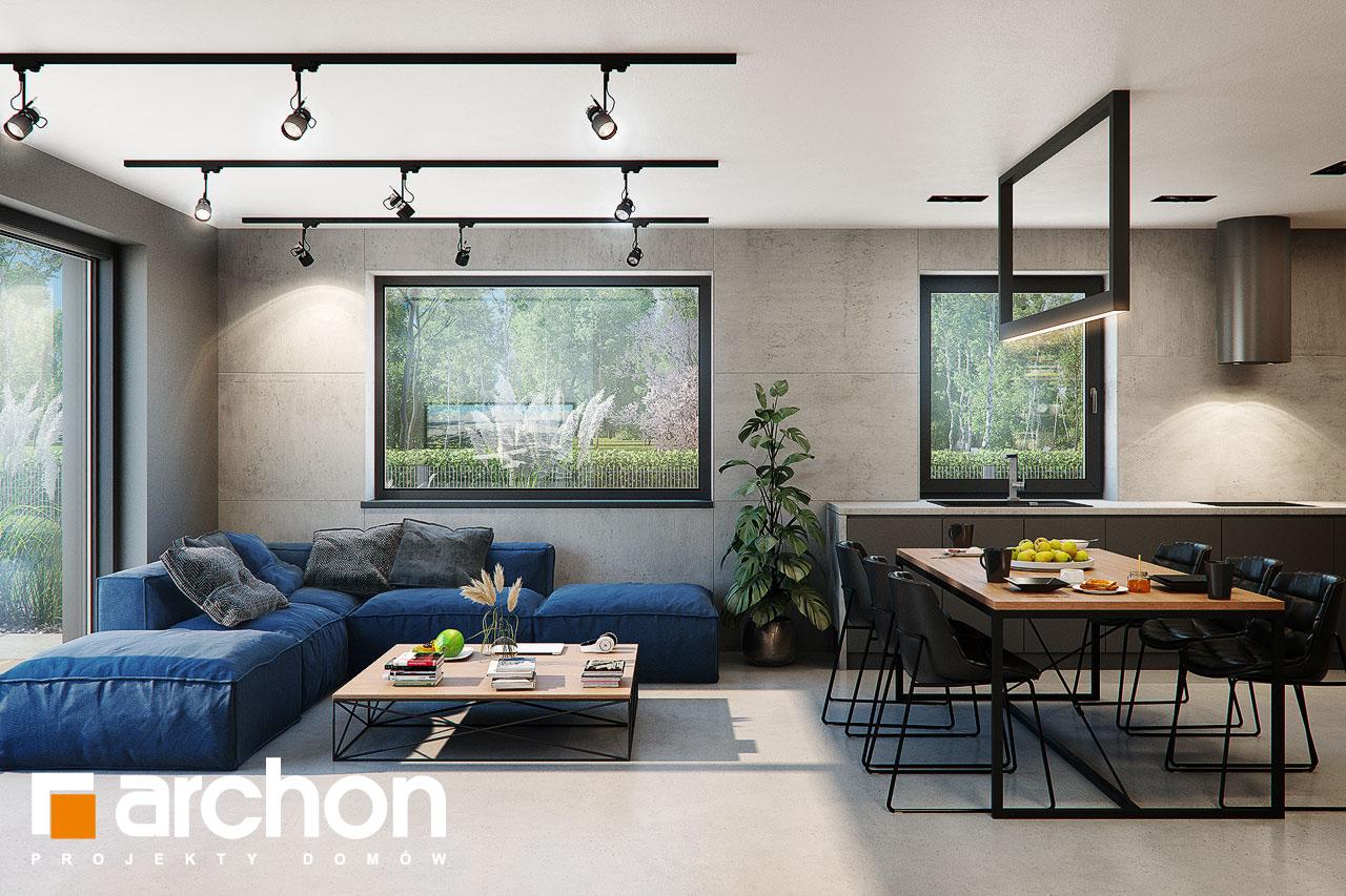 Проект будинку ARCHON+ Будинок в арлетах денна зона (візуалізація 1 від 7)
