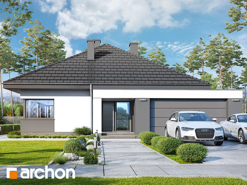 Проект будинку ARCHON+ Будинок в хакетіях 4 (Г2) Вид 1