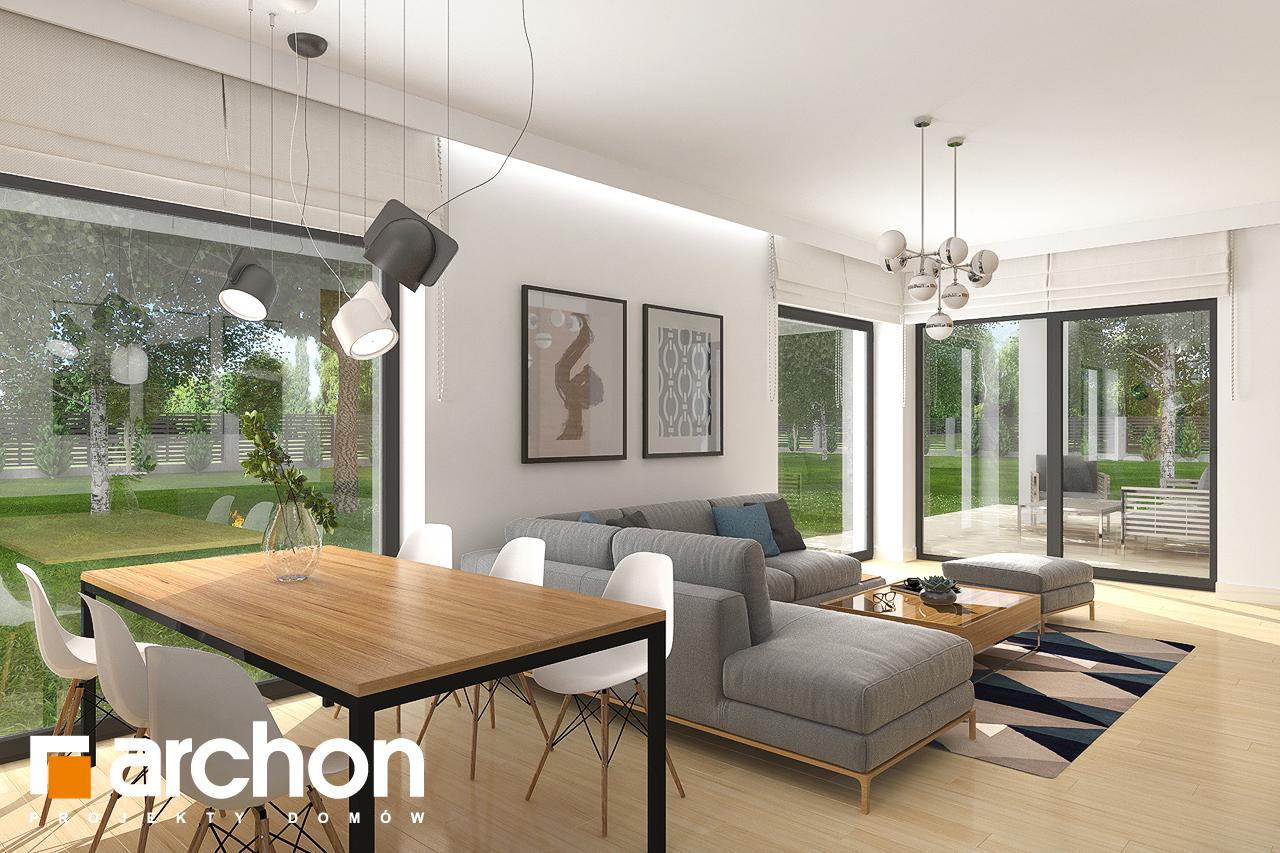 Проект будинку ARCHON+ Будинок в хакетіях 4 (Г2) денна зона (візуалізація 1 від 3)
