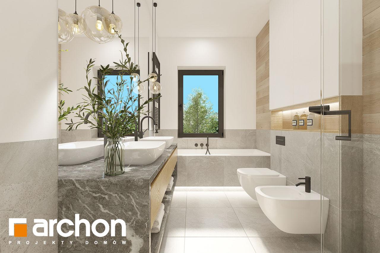 Проект будинку ARCHON+ Будинок в ренклодах 12 візуалізація ванни (візуалізація 3 від 1)