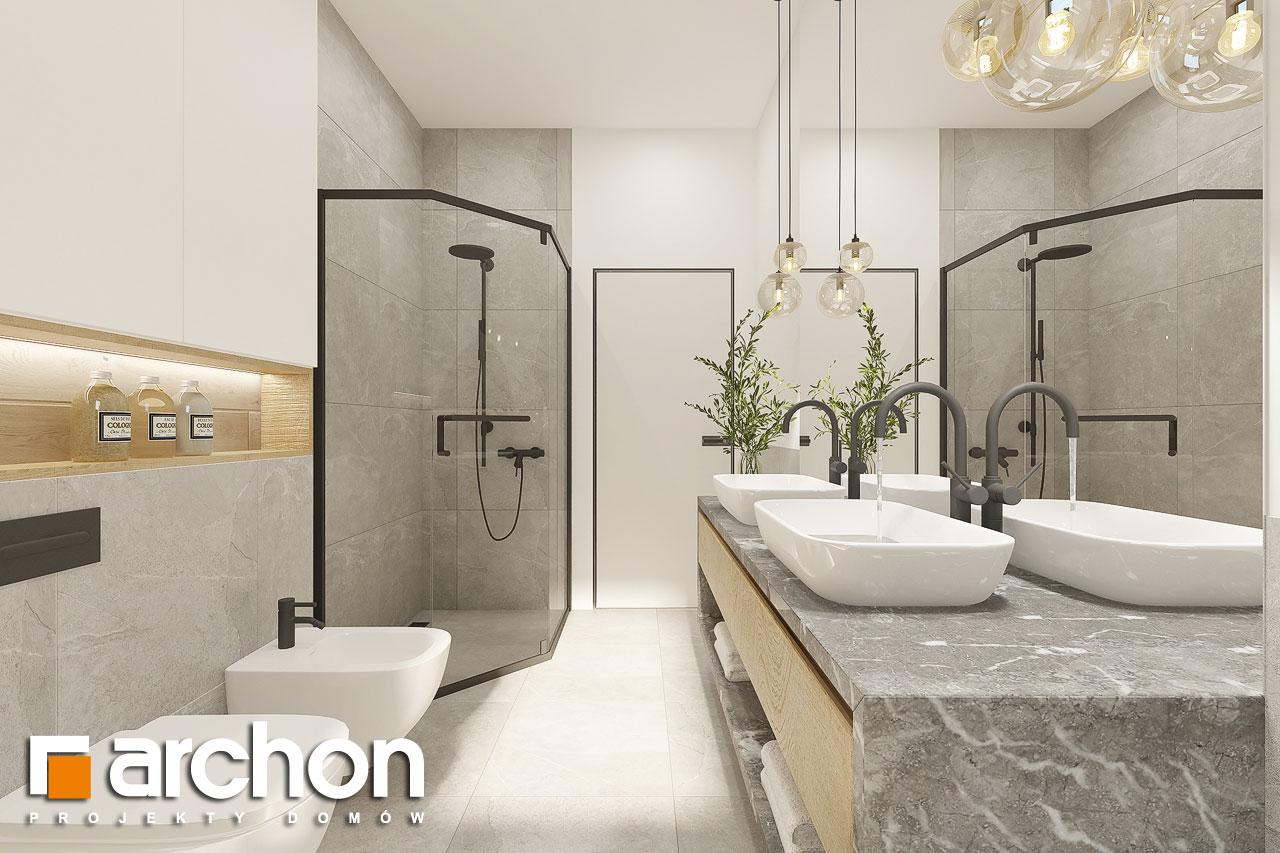 Проект будинку ARCHON+ Будинок в ренклодах 12 візуалізація ванни (візуалізація 3 від 2)