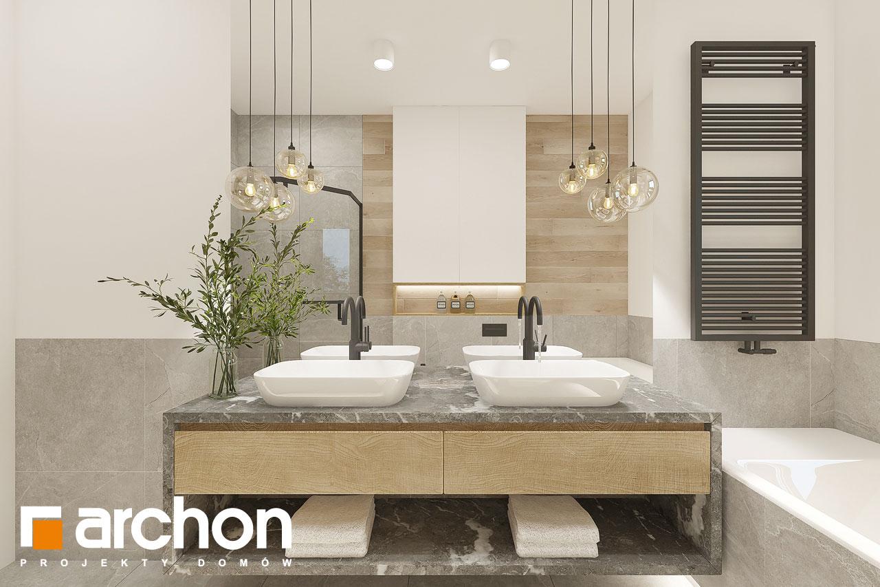 Проект будинку ARCHON+ Будинок в ренклодах 12 візуалізація ванни (візуалізація 3 від 3)