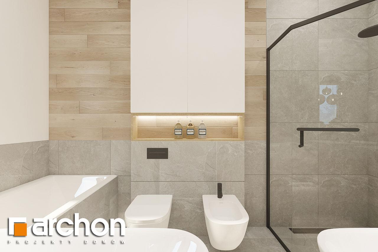 Проект будинку ARCHON+ Будинок в ренклодах 12 візуалізація ванни (візуалізація 3 від 4)