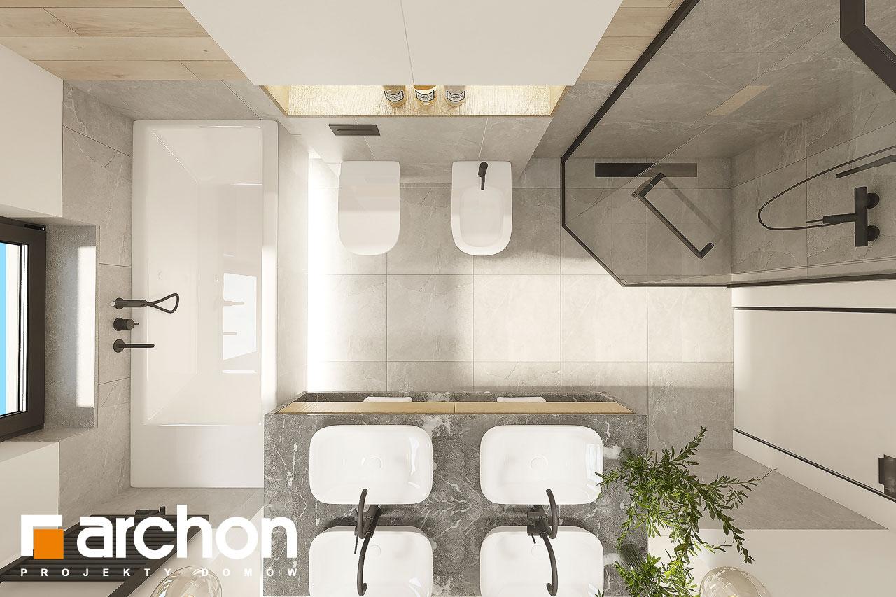 Проект будинку ARCHON+ Будинок в ренклодах 12 візуалізація ванни (візуалізація 3 від 5)