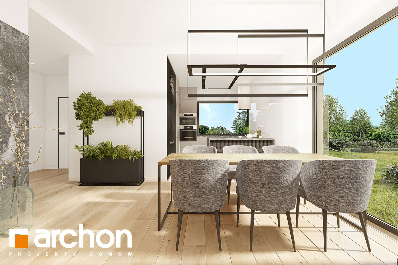 Проект будинку ARCHON+ Будинок в ренклодах 12 денна зона (візуалізація 1 від 3)
