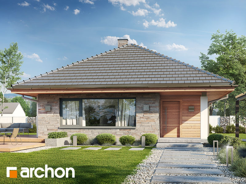 Проект дома ARCHON+ Дом в сирени ver.2 Вид 1