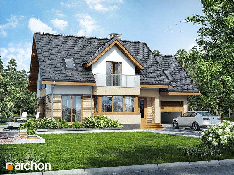 Проект дома ARCHON+ Дом в ананасах ver.2 стилизация 3