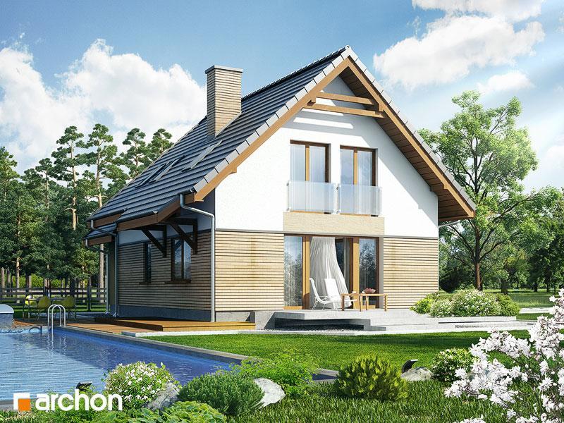 Проект дома ARCHON+ Дом в ананасах ver.2 стилизация 4