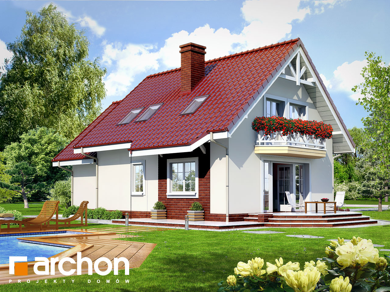 Проект будинку ARCHON+ Будинок в ананасах вер.2 Вид 2