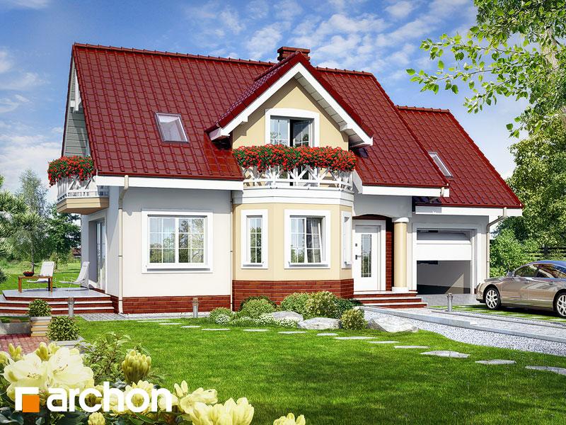 Проект будинку ARCHON+ Будинок в ананасах вер.2 Вид 1