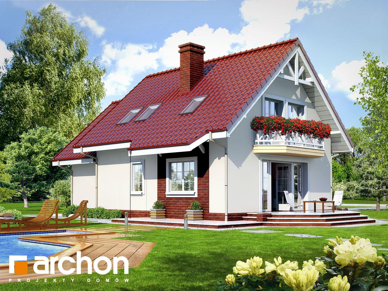 Проект дома ARCHON+ Дом в ананасах ver.2 Вид 2