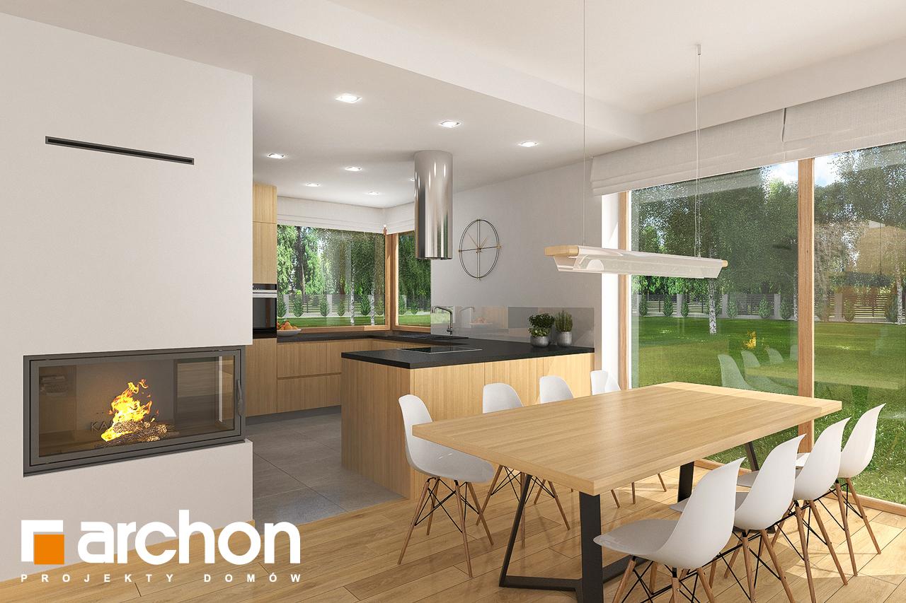 Проект будинку ARCHON+ Будинок в кортланді 3 (Г2) візуалізація кухні 1 від 2