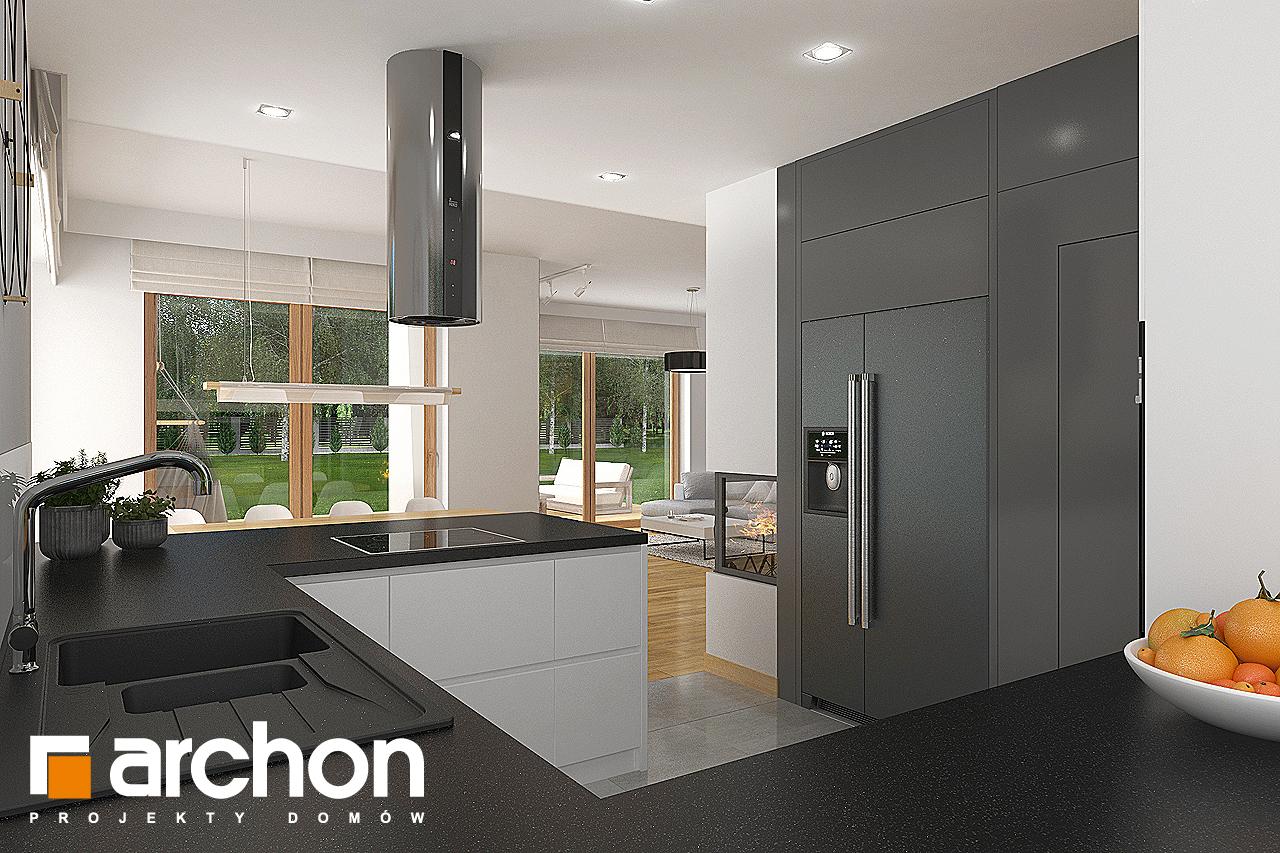 Проект будинку ARCHON+ Будинок в кортланді 3 (Г2) візуалізація кухні 1 від 3