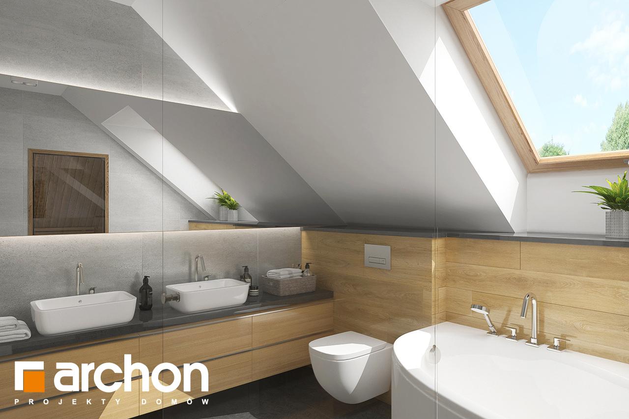 Проект будинку ARCHON+ Будинок в кортланді 3 (Г2) візуалізація ванни (візуалізація 3 від 2)