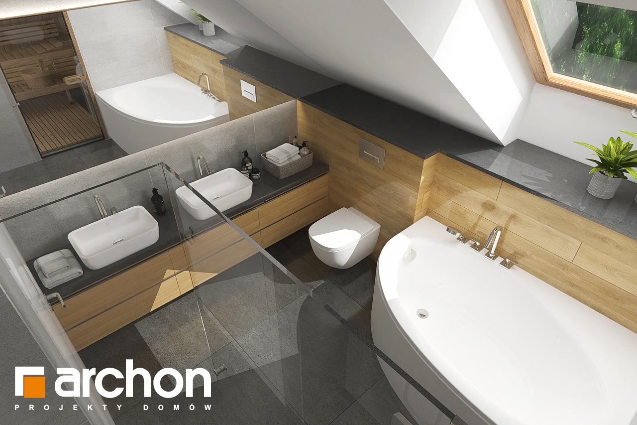 Проект будинку ARCHON+ Будинок в кортланді 3 (Г2) візуалізація ванни (візуалізація 3 від 4)