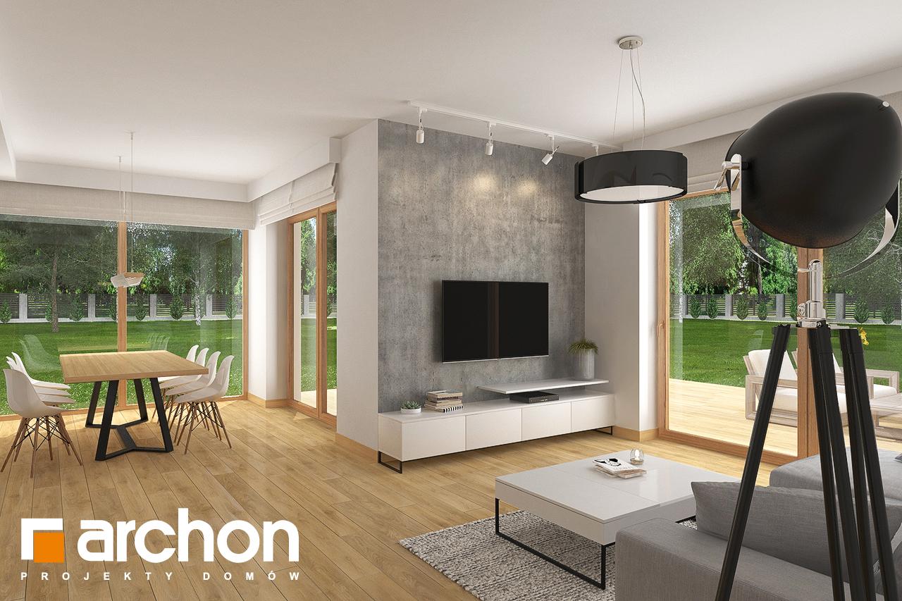 Проект будинку ARCHON+ Будинок в кортланді 3 (Г2) денна зона (візуалізація 1 від 1)