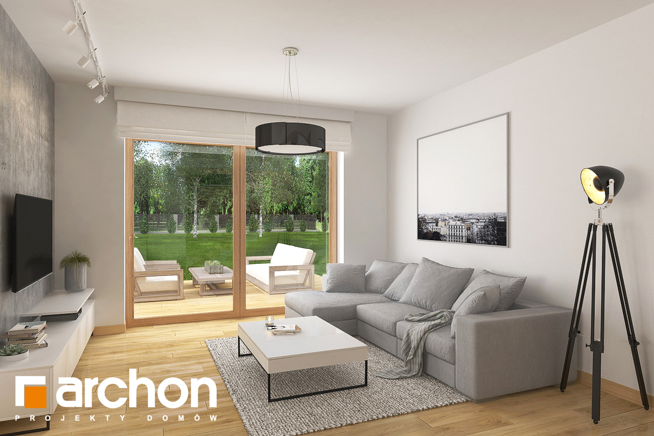 Проект будинку ARCHON+ Будинок в кортланді 3 (Г2) денна зона (візуалізація 1 від 2)