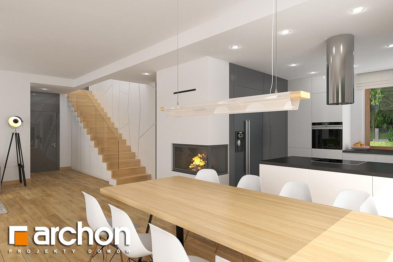 Проект будинку ARCHON+ Будинок в кортланді 3 (Г2) денна зона (візуалізація 1 від 3)