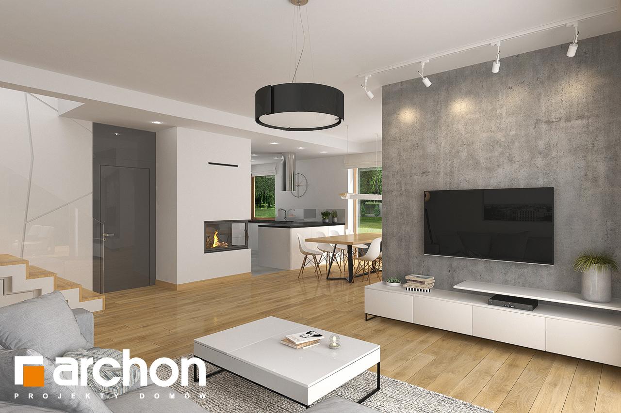 Проект будинку ARCHON+ Будинок в кортланді 3 (Г2) денна зона (візуалізація 1 від 4)