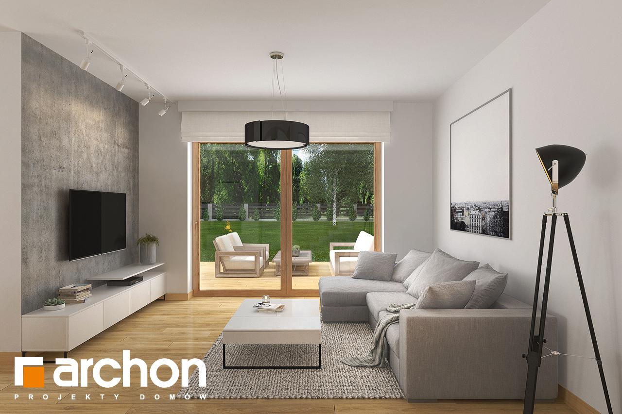 Проект будинку ARCHON+ Будинок в кортланді 3 (Г2) денна зона (візуалізація 1 від 5)