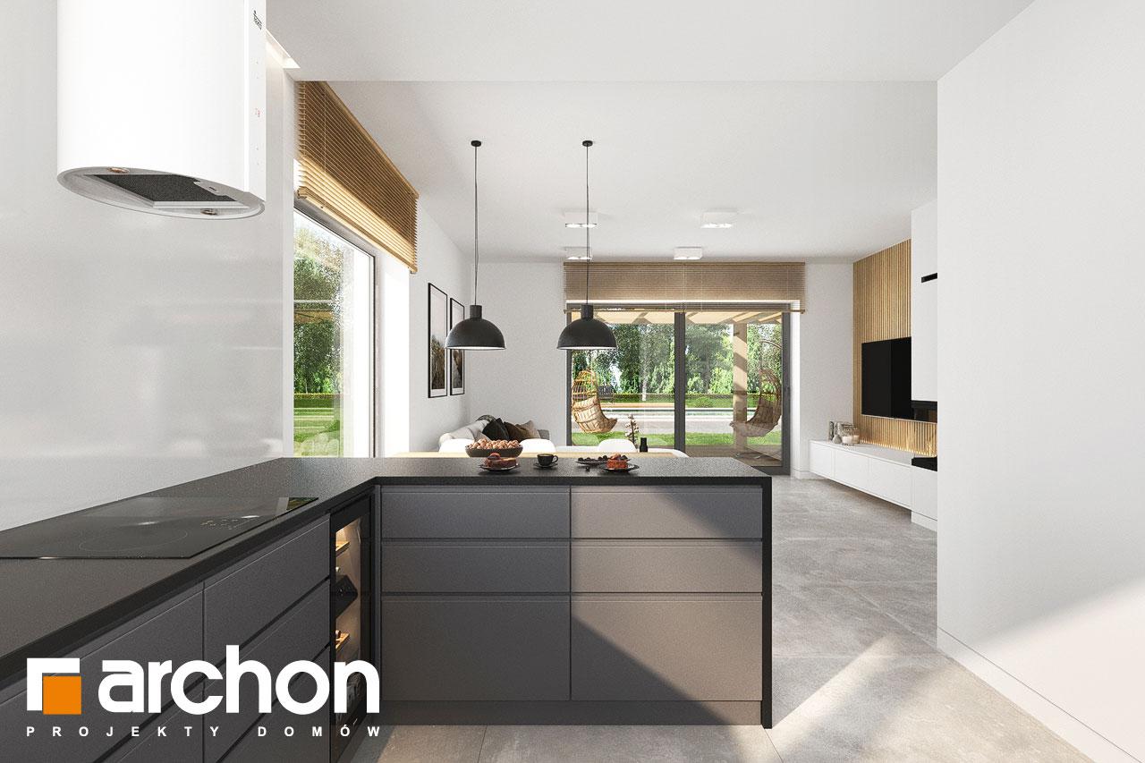 Проект будинку ARCHON+ Будинок в коручках 5 візуалізація кухні 1 від 3