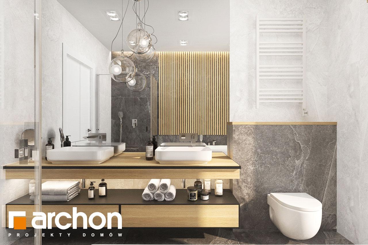 Проект будинку ARCHON+ Будинок в коручках 5 візуалізація ванни (візуалізація 3 від 1)