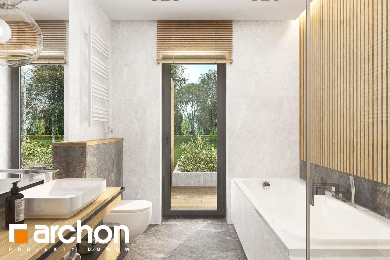 Проект будинку ARCHON+ Будинок в коручках 5 візуалізація ванни (візуалізація 3 від 2)