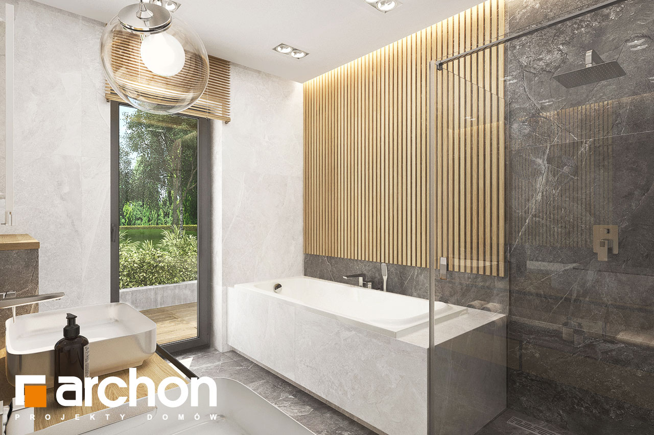 Проект будинку ARCHON+ Будинок в коручках 5 візуалізація ванни (візуалізація 3 від 3)