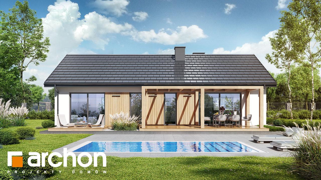 Проект будинку ARCHON+ Будинок в коручках 5 Вид 2