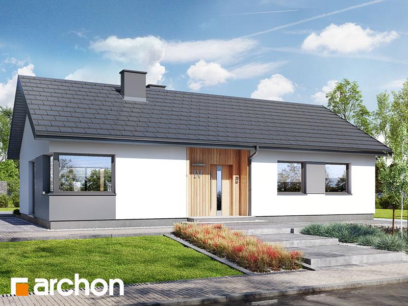 Проект будинку ARCHON+ Будинок в коручках 5 Вид 1