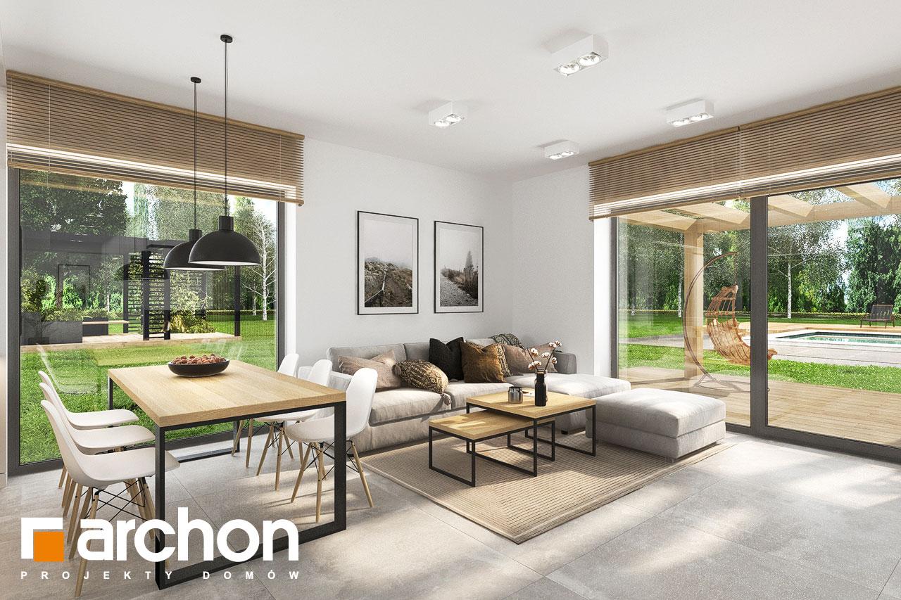 Проект будинку ARCHON+ Будинок в коручках 5 денна зона (візуалізація 1 від 2)