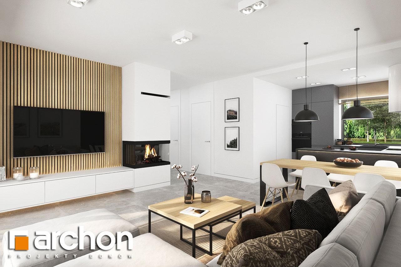 Проект будинку ARCHON+ Будинок в коручках 5 денна зона (візуалізація 1 від 3)