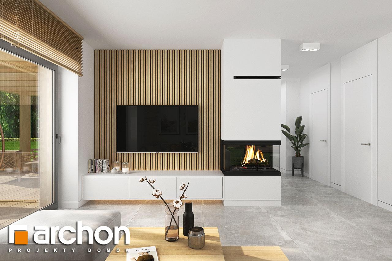Проект будинку ARCHON+ Будинок в коручках 5 денна зона (візуалізація 1 від 4)