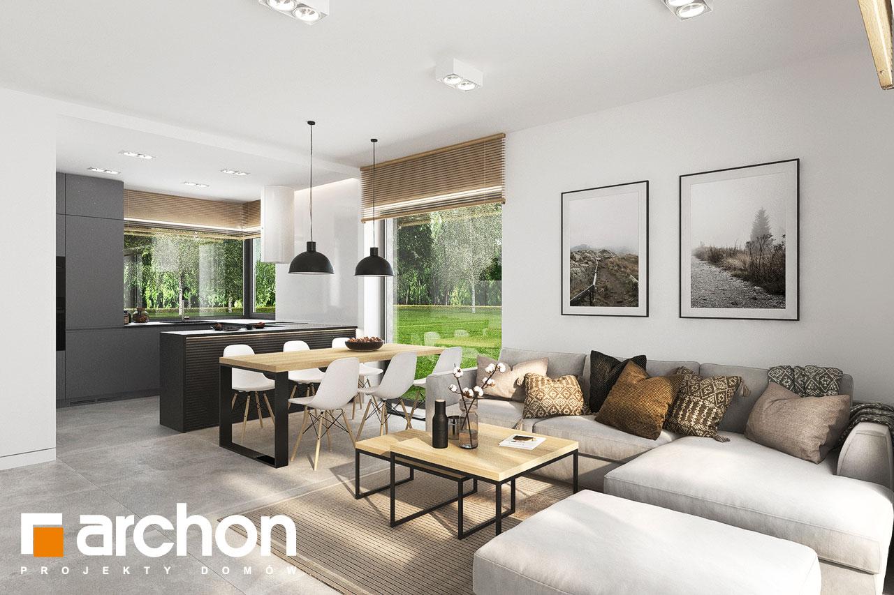 Проект будинку ARCHON+ Будинок в коручках 5 денна зона (візуалізація 1 від 7)