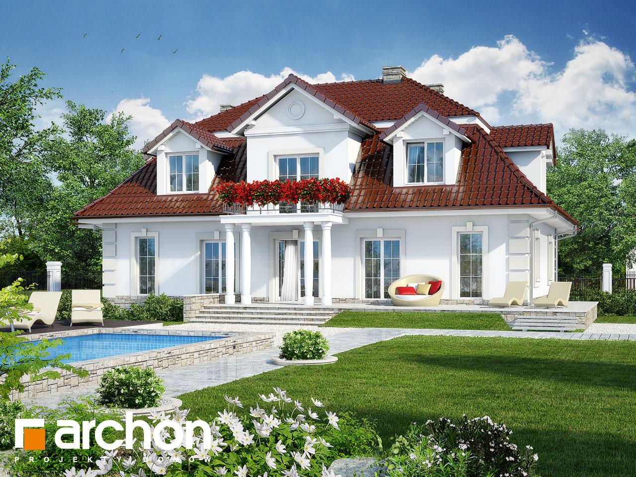 Проект будинку ARCHON+ Будинок в форзиціях Вид 2
