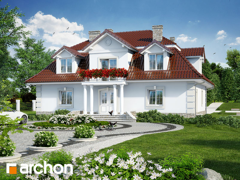 Проект будинку ARCHON+ Будинок в форзиціях Вид 1