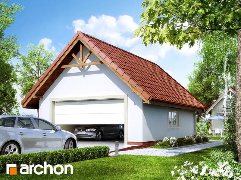 Проект будинку ARCHON+ Г6 - Двомісний гараж Вид 1
