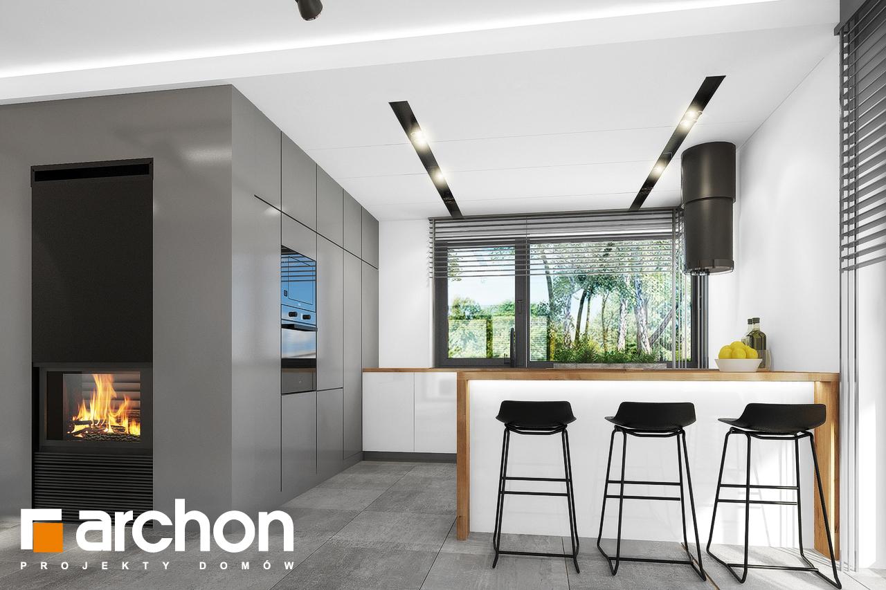 Проект будинку ARCHON+ Будинок в нефрісах (Г2) візуалізація кухні 1 від 1