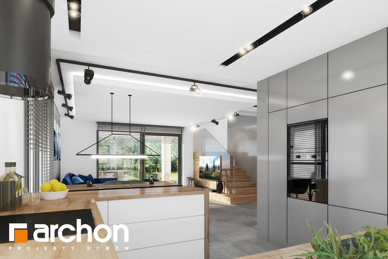 Проект будинку ARCHON+ Будинок в нефрісах (Г2) візуалізація кухні 1 від 2