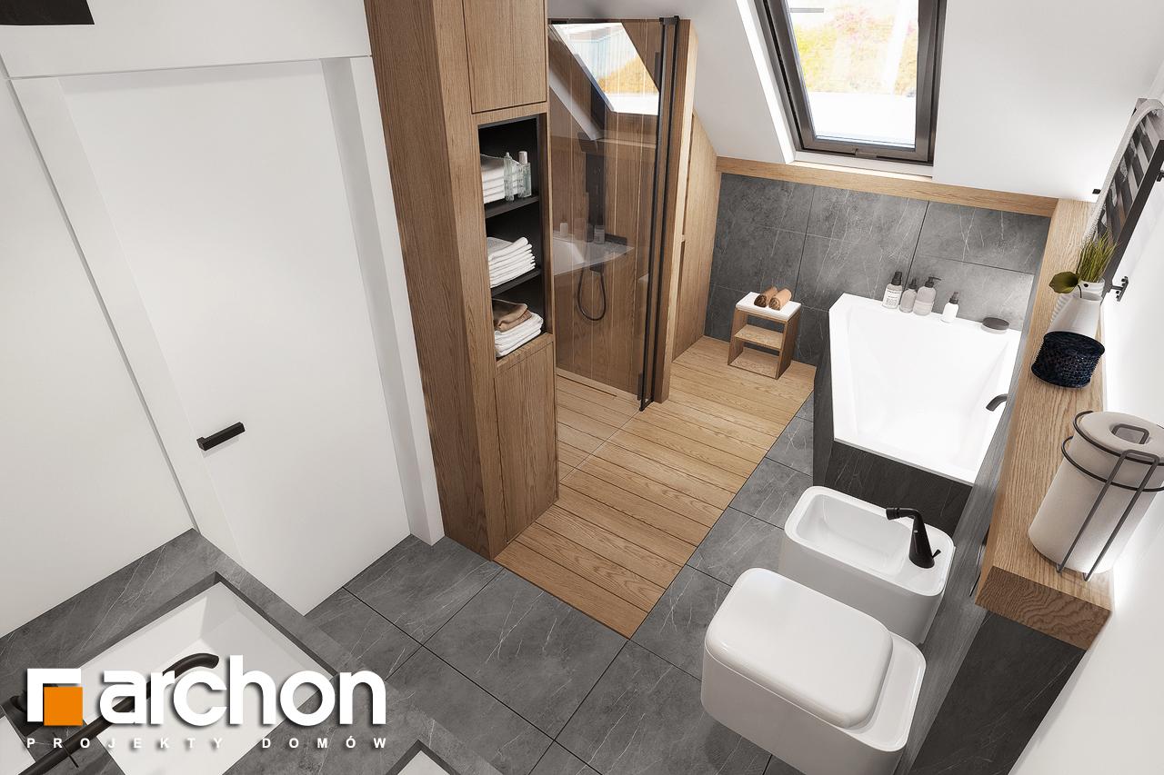 Проект будинку ARCHON+ Будинок в нефрісах (Г2) візуалізація ванни (візуалізація 3 від 4)