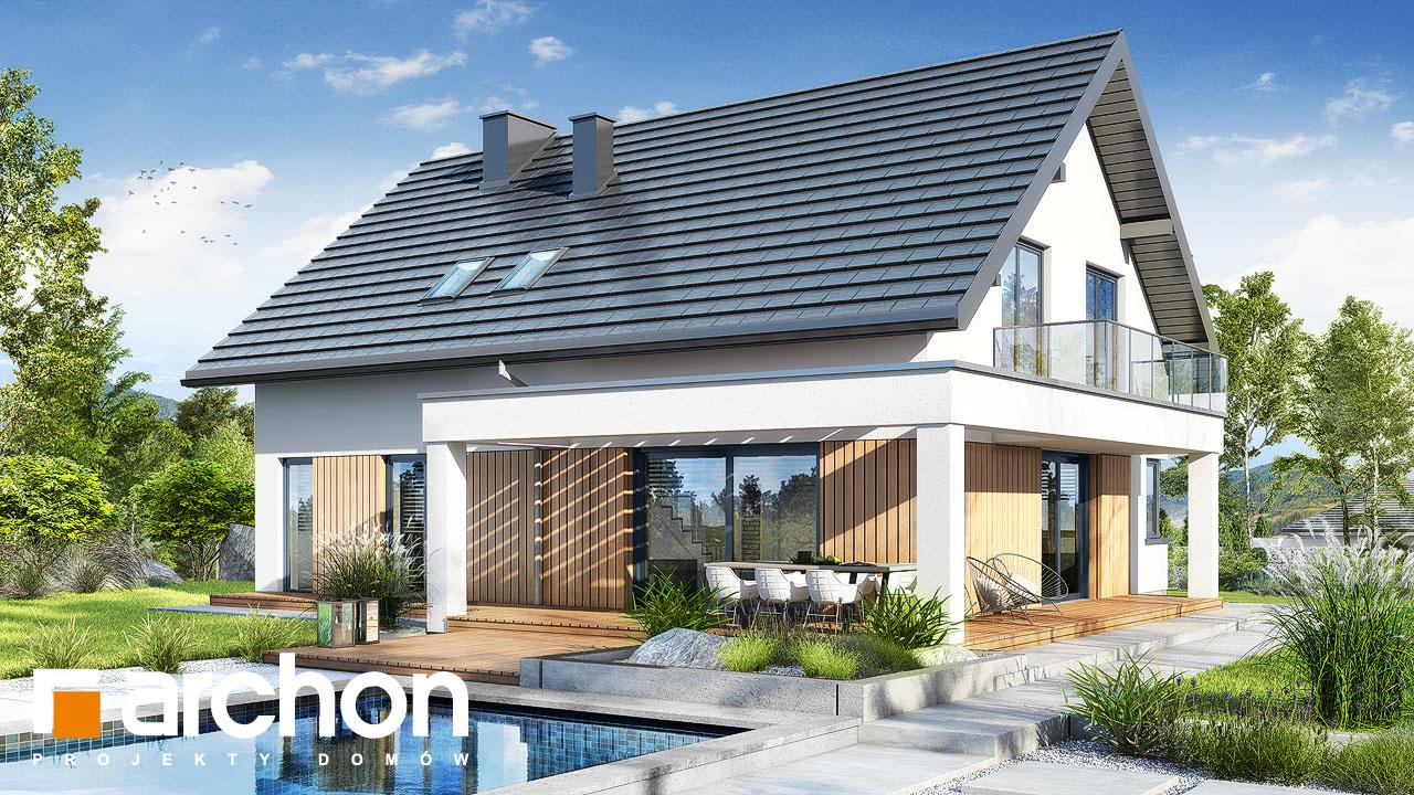 Проект будинку ARCHON+ Будинок в нефрісах (Г2) Вид 2