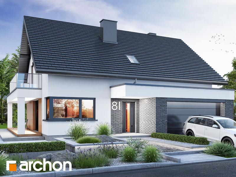 Проект будинку ARCHON+ Будинок в нефрісах (Г2) Вид 1