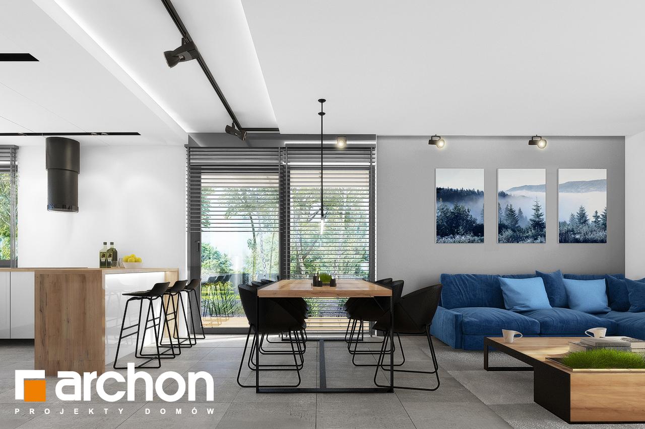 Проект будинку ARCHON+ Будинок в нефрісах (Г2) денна зона (візуалізація 1 від 5)