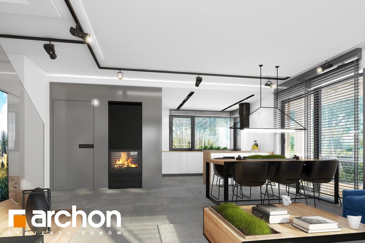 Проект будинку ARCHON+ Будинок в нефрісах (Г2) денна зона (візуалізація 1 від 6)